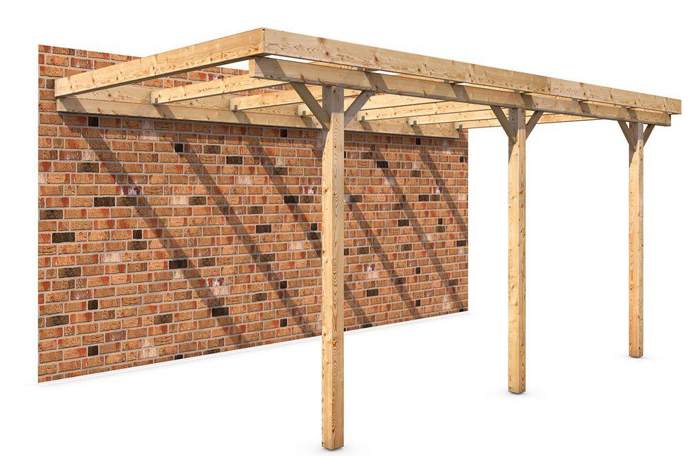 Prefab afdak bouwpakket bouw eenvoudig zelf een houten afdak - Hoe een overdekt terras te bouwen ...