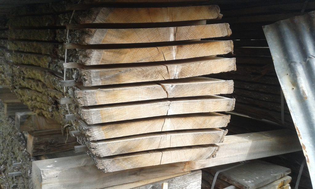 wij verkopen ook bekantrecht gezaagd en gedroogd eikenhout