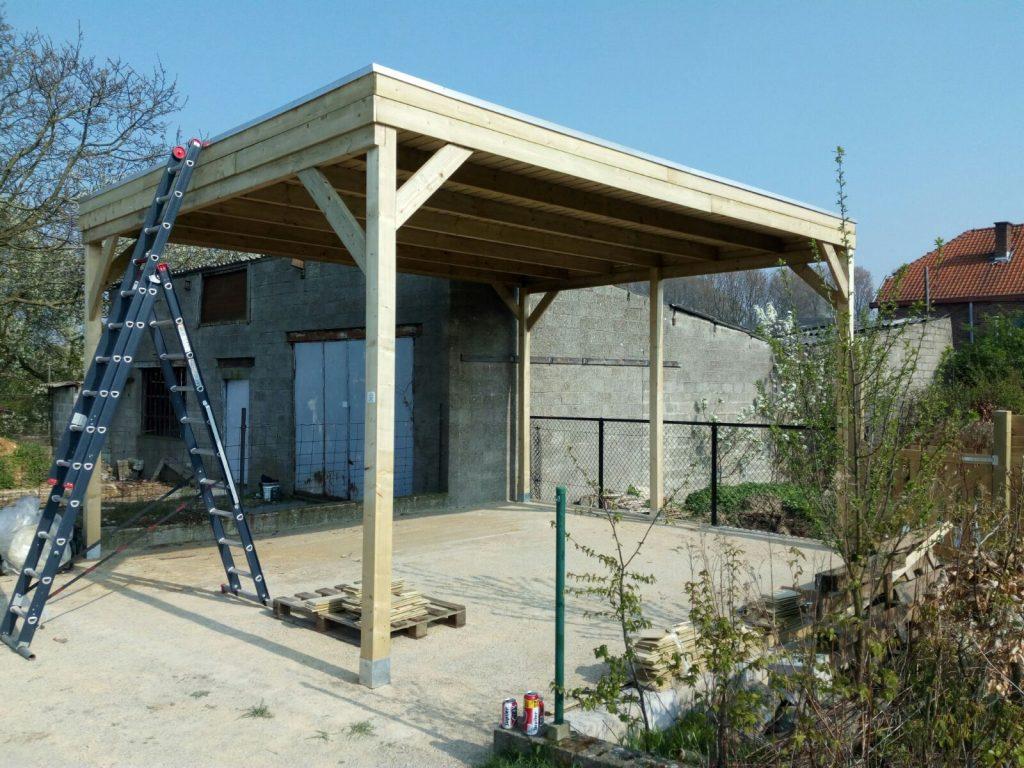 Carport bouwpakket voor zelfmontage for Zelf woning bouwen prijzen