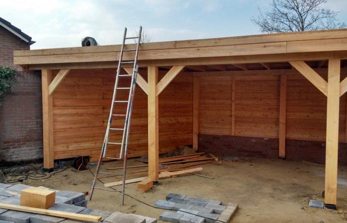 zelfbouw veranda bouwpakket van Douglas hout