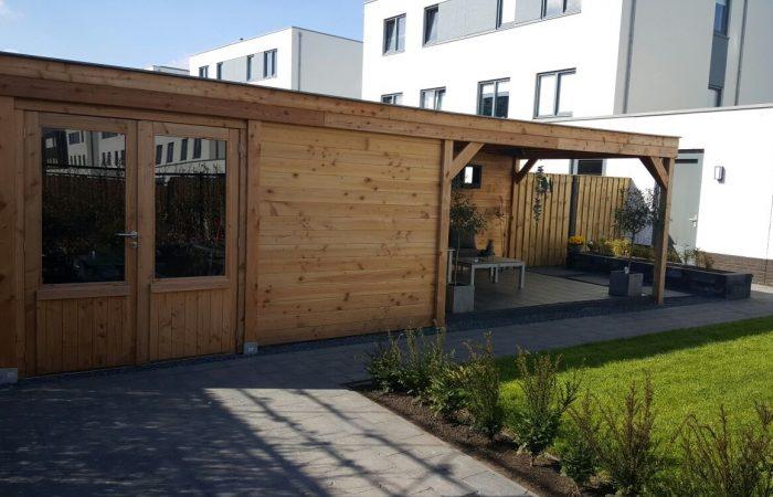 Douglas tuinhuis met veranda voor buitenverblijf of terrasoverkapping